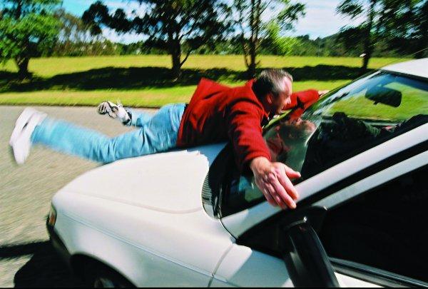 Peter Hassall car roof stunt