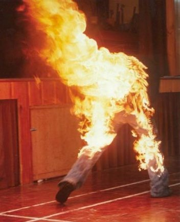 Peter Hassall fire stunt