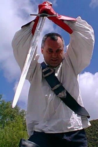 Peter Hassall sword stab
