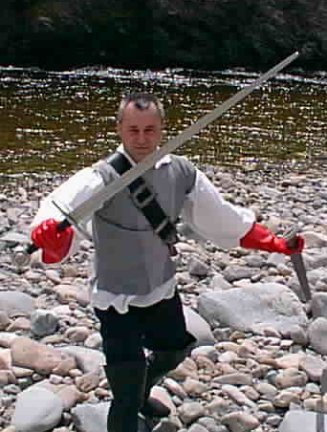 Peter Hassall sword fighting